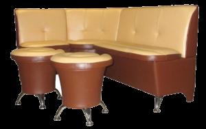 Угловой диван для кухни Лира 5