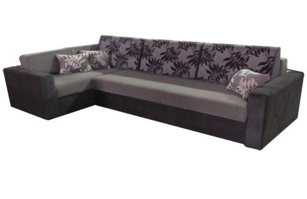 угловой нестандартный диван